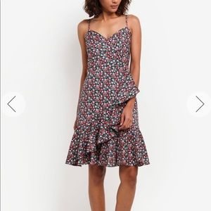 J Crew Ruffle Dress in Liberty Sarah Floral